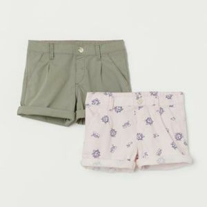 H&M Kid's 2 Pack Cotton Shorts